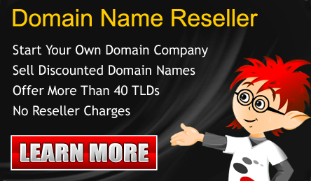 Become a Domain Reseller and start your own business NOW!